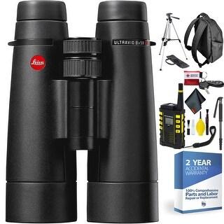 Leica 8 x 50 Ultravid HD-Plus Binocular + Outdoor Hiking Safety Kit + 2 Year Accidental Warranty