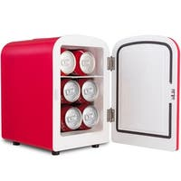 Costway Portable Mini Fridge Cooler and Warmer Auto Car Boat Home Office AC & DC Red