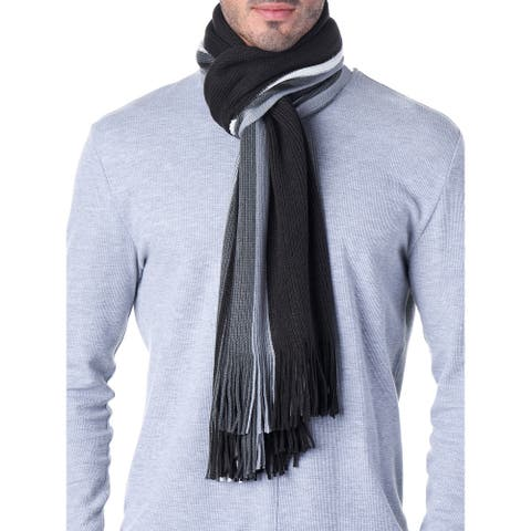 Hammer Anvil Mens Ribbed Knit Soft Winter Scarf Unisex - One Size