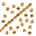 24K Gold Plated Metallized Plastic - 4mm Bicone Beads (100) - Thumbnail 0