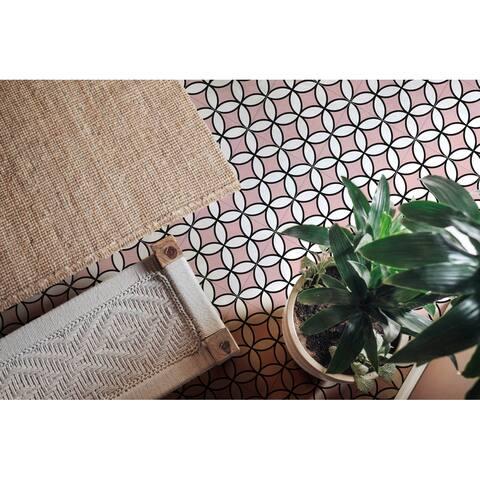 8x8 Brilliant Pink Porcelain Floor and Wall Tile (3.88 Sq. Ft./ 9 pcs per box)