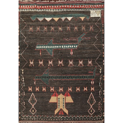 """Oriental Tribal Geometric Moroccan Wool Area Rug Hand-knotted Carpet - 9'4"""" x 12'5"""""""