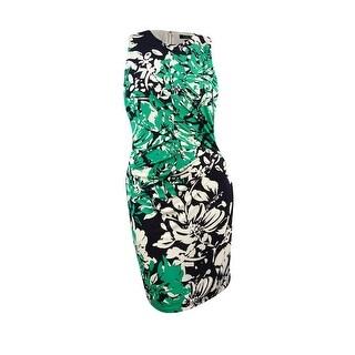 Lauren Ralph Lauren Women's Printed Sheath Dress (2P, Black/Green) - Black/Green - 2p