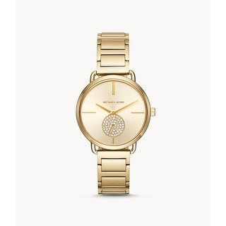 Link to Michael Kors MK3838 Portia 28mm Swarworski Gold-tone Stainless Steel Womens Watch - One Size Similar Items in Women's Watches