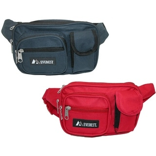 Everest Fabric 4 Pocket Waist Pack(Pack of 2)