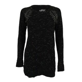 Style & Co. Women's Flecked Embellished Tunic Sweatshirt