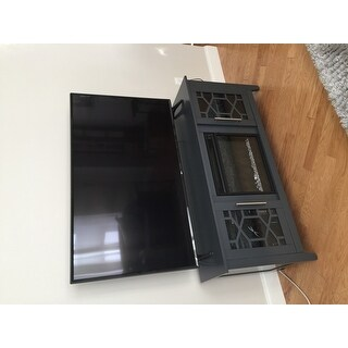 Clarion TV Stand for TVs up to 60 inches with Electric Fireplace - Cool Gray