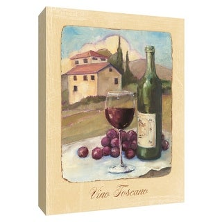 "PTM Images 9-154454  PTM Canvas Collection 10"" x 8"" - ""Vino Toscano"" Giclee Wine Textual Art Print on Canvas"