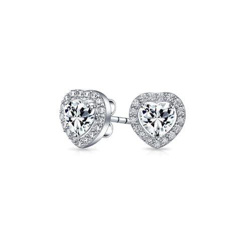 f4a7492f8c105 Buy Heart Cubic Zirconia Earrings Online at Overstock | Our Best ...