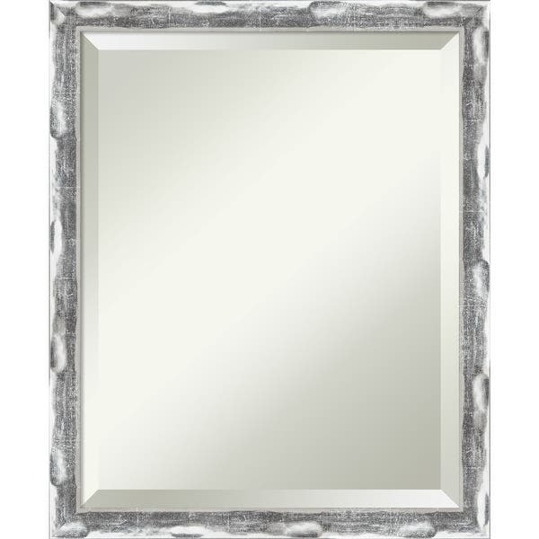 Scratched Wave Chrome Bathroom Vanity Wall Mirror Overstock 32532897