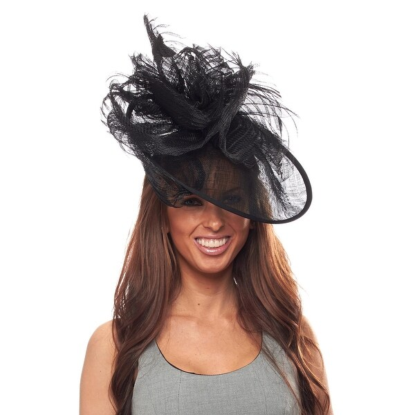 In the Money Sinamay Fascinator Cocktail Hat with Headband