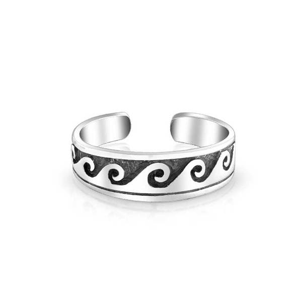 Suns Toe Ring Fashion Beach Adjustable Fine Jewelry Sterling Silver 925