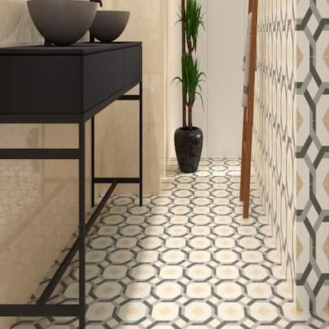 The Tile Life DaVinci Sculptor 7.9x7.9 Porcelain Patterned Tile