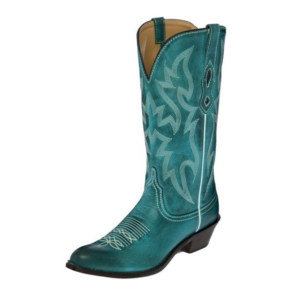 Nocona Western Boots Womens Burnished Cow Leather Round Toe NL1623