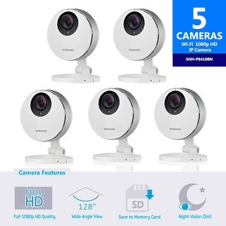 5 pack of SNH-P6410BN Samsung Smartcam Full HD Wifi 1080p IP Camera