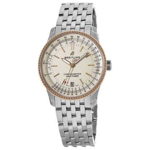 Breitling Men's U1732521-G841-455A 'Navitimer 1' Stainless Steel Watch - Silver