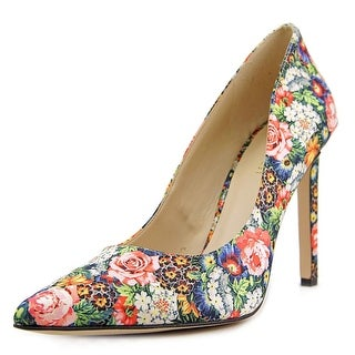 Nine West Tatiana Women Pointed Toe Canvas Multi Color Heels