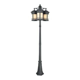 Designers Fountain 23813 Am Orb 9 Light 3 Head Cast Aluminum Post Lamp From