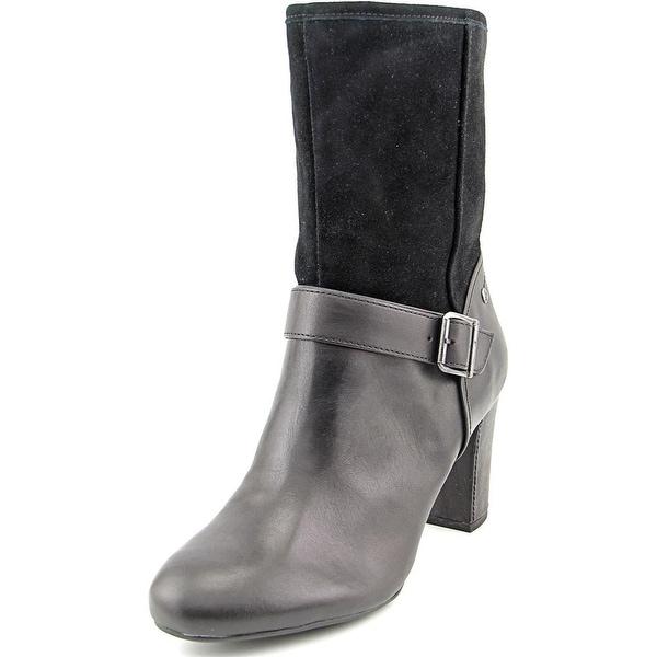 Hush Puppies Dakota Sisany Round Toe Leather Mid Calf Boot