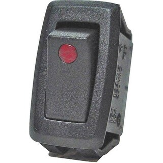 Calterm 40341 Rocker Switches, 20 Amp, Black, Red Led Dot-32A