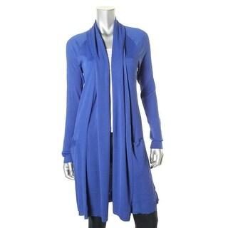 Lauren Ralph Lauren Womens Cardigan Top Shawl Collar Rib Knit