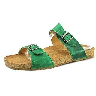 Haflinger Andrea 2 Open Toe Leather Slides Sandal