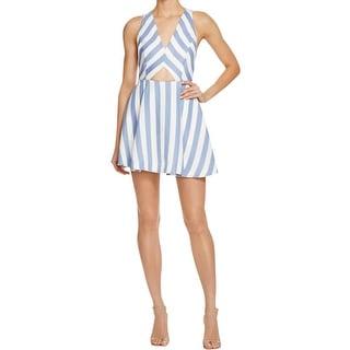 Lovers + Friends Womens Sundress Striped Cut-Out