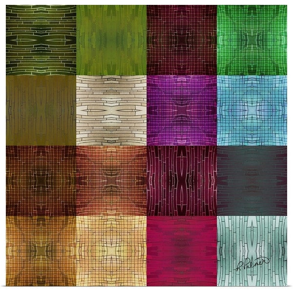 """""""Textured Squares"""" Poster Print"""