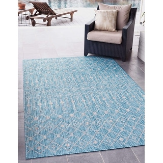 Link to Unique Loom Outdoor Tribal Trellis Rug Similar Items in Rugs