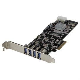 StarTech I/O Controller PEXUSB3S44V 4Port Quad Bus PCI-Express USB3.0 Card Adapter with UASP LP4 Power Retail