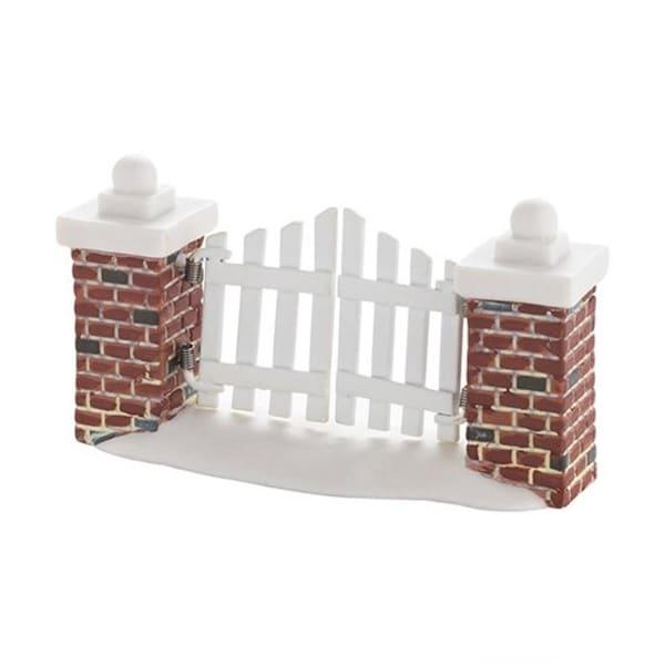 "Department 56 Snow Village ""Picket Lane Gate"" Accessory #4033843 - WHITE"
