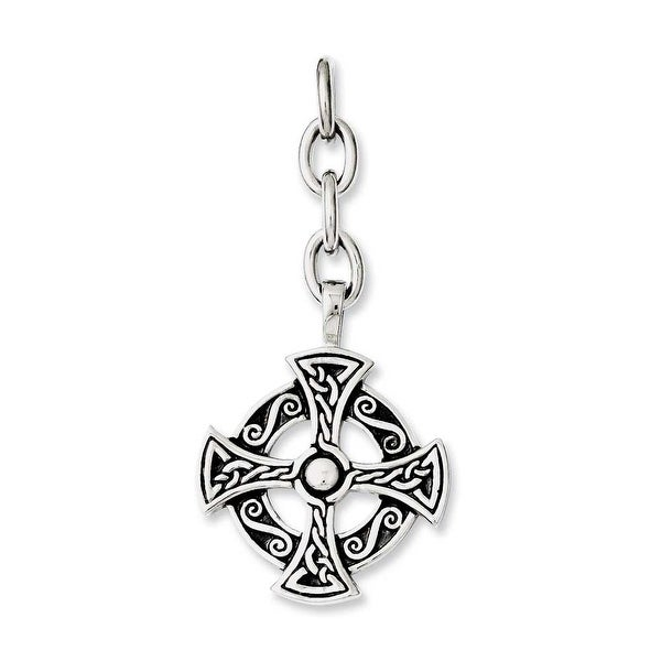 Chisel Stainless Steel Celtic Cross Interchangeable Charm Pendant (29 mm) - 2.5 in