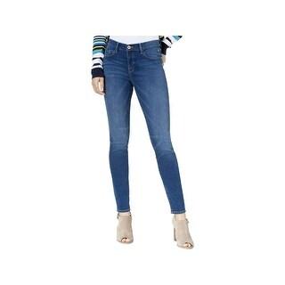 Tommy Hilfiger Womens Greenwich Skinny Jeans Embellished Logo