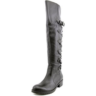Carlos by Carlos Santana Metropolis Women Leather Black Over the Knee Boot
