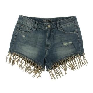 DL1961 Womens Ivy Cotton High-Rise Denim Shorts - 28