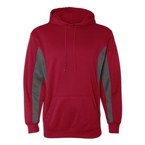 Badger Drive Performance Fleece Hooded Pullover - Red/ Graphite - 3XL
