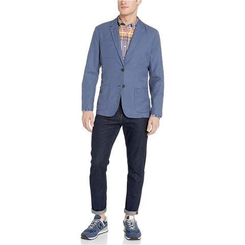 Goodthreads Men's Standard-Fit Linen Blazer, Denim, XX-Large