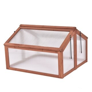 Link to Double Box Garden Wooden Greenhouse - Pictured Similar Items in Gardening