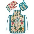 Chef's 3 Piece Kitchen Set - Apron, Oven Mit and Potholder - Thumbnail 4
