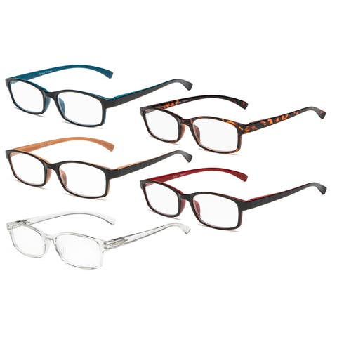 86f98974bad4 Eyekepper Reading Glasses 5 Pairs Comfort Readers Women Men Mix Color