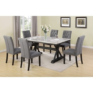 Link to Best Quality Furniture Faux Marble Table Top 7-Piece Dining Set Similar Items in Dining Room & Bar Furniture