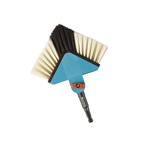 Gardena 33633 Combisystem Overhead Cleaning Angle Broom Head - Head Only - Blue