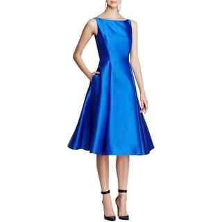 Adrianna Papell Womens Cocktail Dress Sleeveless Tea Length