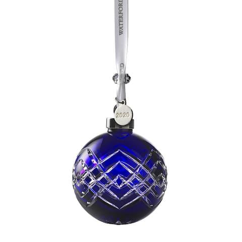 "Ball Ornament 3.8"" Sapphire NEW"