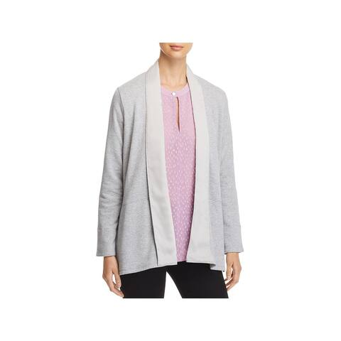 Donna Karan Womens Cardigan Sweater Relaxed Open Front