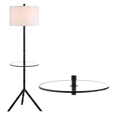 """Hall 62"""" Metal LED End Table Floor Lamp, Bronze - 62"""" H x 20.5"""" W x 20.5"""" D"""
