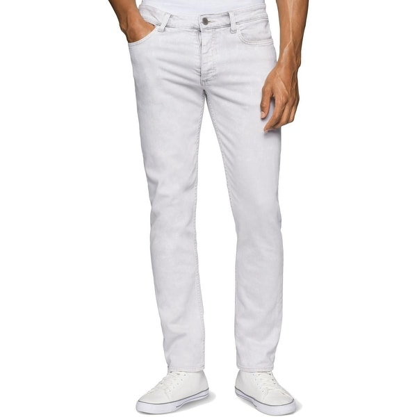c7b016f0799 Shop Calvin Klein Jeans Mens Skinny Jeans Bleached Marble Wash - Free  Shipping Today - Overstock - 20246134