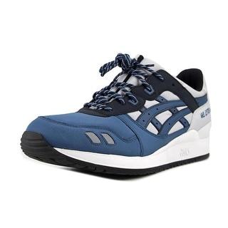 Asics Gel-Lyte III Men  Round Toe Leather Gray Running Shoe