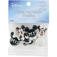 Dress It Up Licensed Embellishments-Disney Mickey & Minnie Wedding