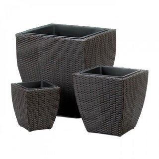 Tuscany Wicker Square Planters
